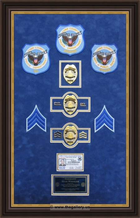 Police Department Custom Shadowbox Frames