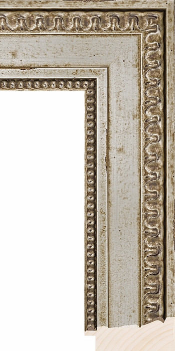 Larson Juhl SALON LARGE PANEL SILVER 3 630225 Picture Frame Moulding