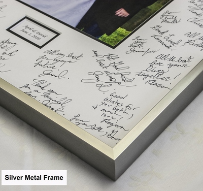 11x14 Mat Board Michaels White Signature Mat With Silver